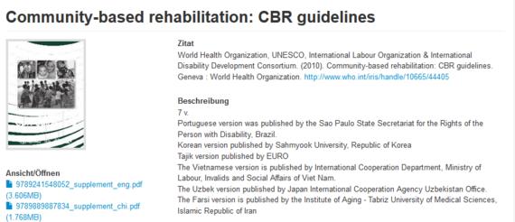 Community-Based Rehabilitation: CBR Guidelines